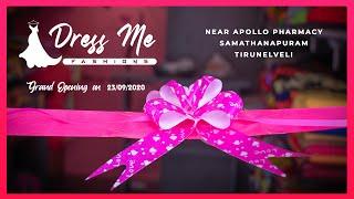 Dress Me Fashions   Grand Opening on 23/09/2020   Tirunelveli