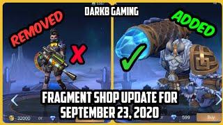 Fragment Shop Update for September 23, 2020 | Grock Iceland Golem and more! | Mobile Legends | MLBB