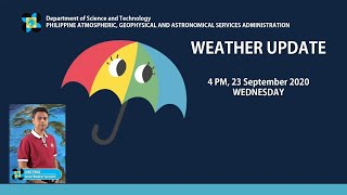 Public Weather Forecast Issued at 4:00 PM September 23, 2020