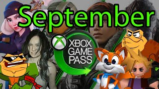 Xbox Game Pass September 2020 Games Suggestions and Additions