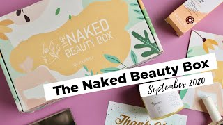 The Naked Beauty Box Unboxing September 2020: Skincare Subscription Box