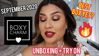 SEPTEMBER 2020 BOXYCHARM UNBOXING AND TRY ON | Alma Rivera Beauty |