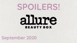 FULL SPOILERS! ALLURE BEAUTY BOX SEPTEMBER 2020