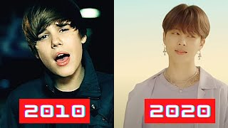Top 5 Most Liked Music Videos Each Year (2010-2020) September 2020!