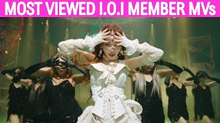(TOP 50) Most Viewed I.O.I Members Music Videos (September 2020)