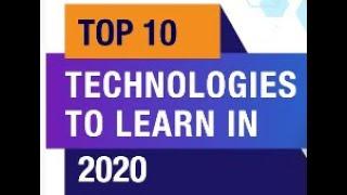 Top 10 Technologies To Learn In 2020   Trending Technologies In 2020   Top IT Technologies