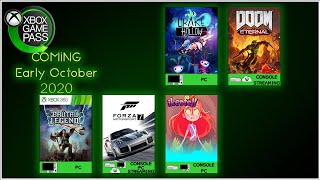 Coming to Xbox Game Pass Early October 2020