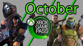 Xbox Game Pass October 2020 Games Suggestions and Additions