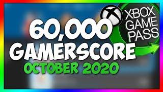 60,000 Gamerscore | Games for Xbox Easy 60k Gamerscore | FREE & GAMEPASS! (October 2020)