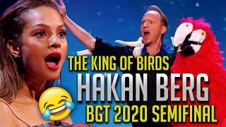 HAKAN BERG BGT 2020 Semifinal Full Act | Britain's Got Talent | Hilarious Comedy Magic King of Birds