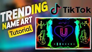 Viral Colourful Love Name Art Editing | Tiktok Trending Name Art Video | KinemasterEditing