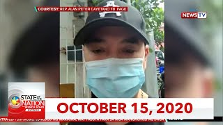 State of the Nation with Jessica Soho Express: October 15, 2020 [HD]