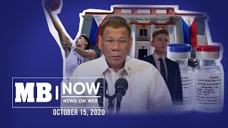 Manila Bulletin News On Web, Thurs, October 15, 2020