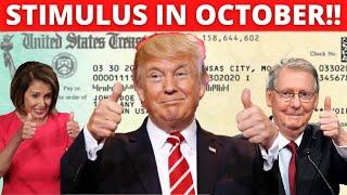 STIMULUS IN OCTOBER!! SECOND STIMULUS CHECK NEW INFO | HOPEFUL UPDATE + STIMULUS UPDATE (OCTOBER 15)