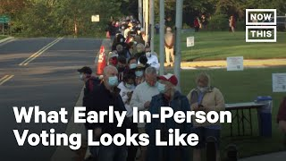 Early In-Person Voting Across the U.S. | NowThis