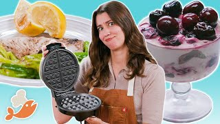 Can This Chef Cook A 3-Course Meal With A Waffle Iron?