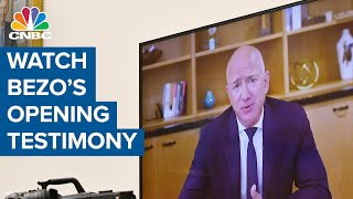 Watch Amazon CEO Jeff Bezos' opening testimony to Congress