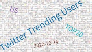 Trending users on Twitter, US, week of 10-24-2020