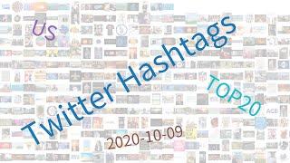 Trending hashtags on Twitter, US, week of 10-09-2020