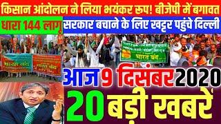 Nonstop News| 9 December 2020| Aaj ka taja khabar| 9 December ka taja Samachar| 9 December 2020 News