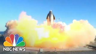SpaceX Starship Explodes On Attempted Landing During Test Flight | NBC News NOW