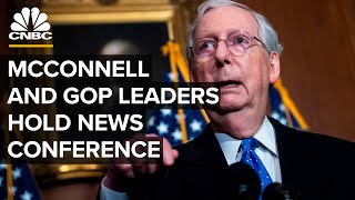 Senate Majority Leader McConnell and Republican leaders hold a news conference — 12/8/20