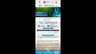Webinar Series -Precision Agriculture using IOT Technology