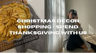 VLOG: Cooking, Styling Outfits, Christmas Decor, & Thanksgiving
