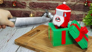LEGO AMONG US SANTA - Making Cookie for Christmas | Stop Motion Cooking & ASMR Funny Animation