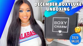 DECEMBER 2020 BOXYLUXE UNBOXING & TRY-ON || $529 VALUE ?! BOXYCHARM BEAUTY BOX REVIEW