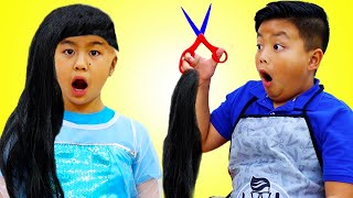 Jannie and Alex Pretend Play Hair and Beauty Toy Salon