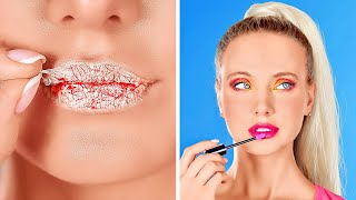 COOL BEAUTY AND MAKE UP HACKS || Girly Hacks And Beauty Tricks by 123 GO!