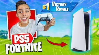 Playing Fortnite with PS5 Controller! **EPIC** | Royalty Gaming