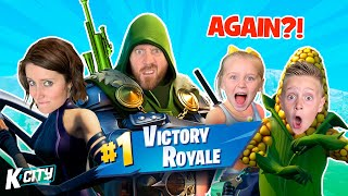 UNDEFEATED! Family FORTNITE SQUADS Battle 2! // K-CITY GAMING
