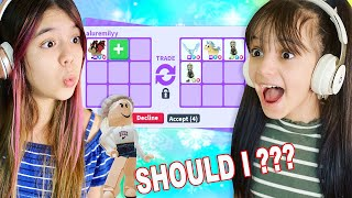 WHAT PEOPLE TRADE FOR LEGENDARIES? Roblox Adopt Me! | Emily vs Evelyn Gaming
