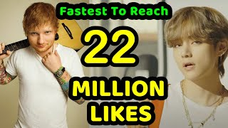 [ TOP 4 ] GLOBAL Fastest Music Videos To Reach 22 Million Likes On Youtube