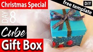 CHRISTMAS CRAFTS #8 HOW TO MAKE A FOLDING BOX,  CÓMO HACER UNA CAJA DE REGALO DESPLEGABLE,