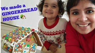 We made a GINGERBREAD HOUSE 🏡 | Christmas-themed cookies | Navika does a grocery haul. 😂