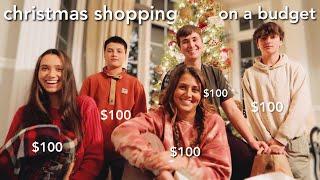 $100 christmas shopping (vlog & haul) w/ my siblings