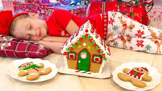 Christmas song for kids about Nastya and Santa Claus