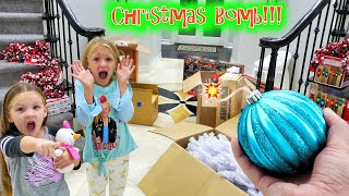Decorating for Christmas With a TikTok Ornament Bomb!!!