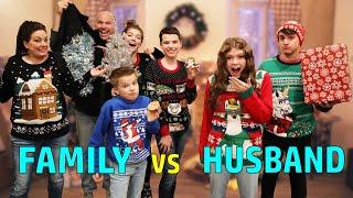 5 Family Members vs 1 Husband Christmas Challenge!
