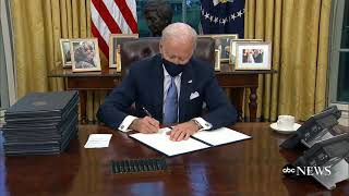 Biden issues 1st executive orders