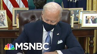 Biden Signs Executive Orders On Mask Mandate, Racial Equality And Rejoining Parris Accord | MSNBC