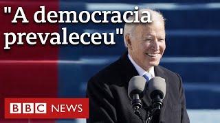 'A vontade do povo foi ouvida', diz Joe Biden em discurso de posse