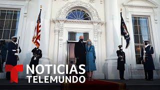 En video: El presidente, Joe Biden, y su familia ingresan a la Casa Blanca | Noticias Telemundo