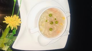 Chicken corn soup #soup #chicken soup by  cooking and  health with Amna Mirza