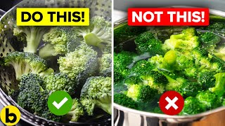 12 Ways You're Cooking Your Vegetables Wrong Which Reduce Their Health Benefits