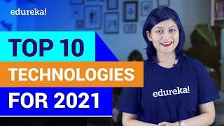 Top 10 Technologies to Learn in 2021 | Trending Technologies in 2021 | Edureka