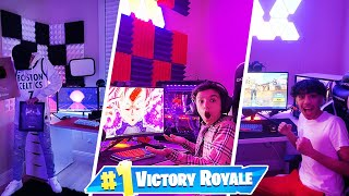Insane Fortnite Gaming Setup Wars With Brothers! 2021 Gaming Setup Tour!